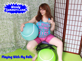 Wendy with her Giant Balls
